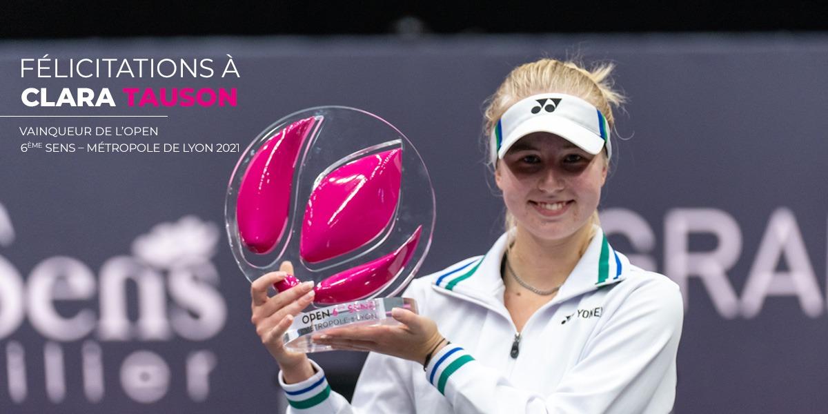 Clara Tauson, vainqueur de l'open 6ème sens métropole de lyon 2020 (photo source : tourno1